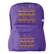 Psycho Easter Pattern colorful American Apparel™ Backpack