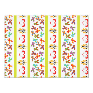 Psycho Easter Pattern colorful Card