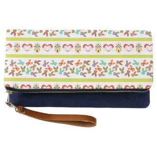 Psycho Easter Pattern colorful Clutch
