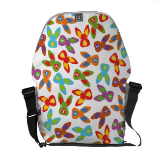 Psycho Easter Pattern colorful Courier Bag