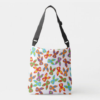 Psycho Easter Pattern colorful Crossbody Bag
