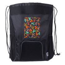 Psycho Easter Pattern colorful Drawstring Backpack