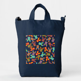 Psycho Easter Pattern colorful Duck Bag