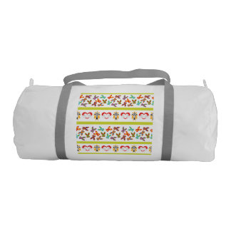 Psycho Easter Pattern colorful Duffle Bag