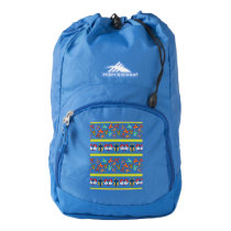 Psycho Easter Pattern colorful High Sierra Backpack