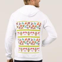 Psycho Easter Pattern colorful Hoodie