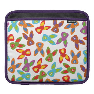 Psycho Easter Pattern colorful iPad Sleeve