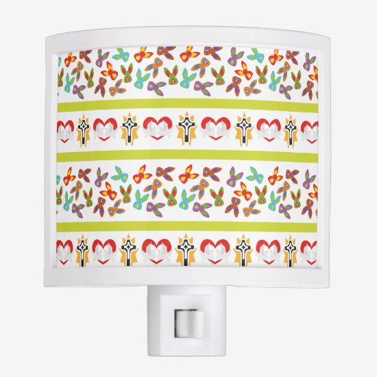 Psycho Easter Pattern colorful Night Light