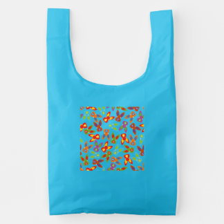 Psycho Easter Pattern colorful Reusable Bag