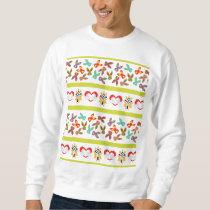 Psycho Easter Pattern colorful Sweatshirt