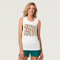 Psycho Easter Pattern colorful Tank Top