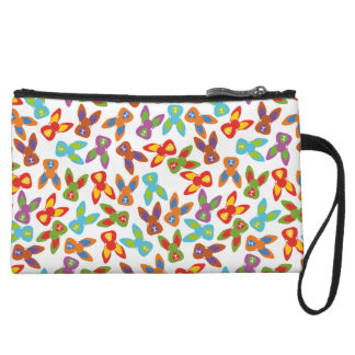 Psycho Easter Pattern colorful Wristlet Wallet