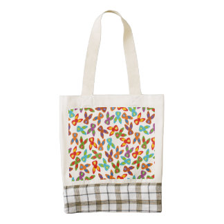Psycho Easter Pattern colorful Zazzle HEART Tote Bag