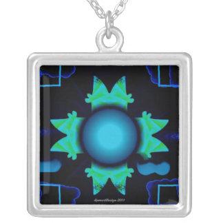 Psycho Eye dpmartdesign 2011 Square Pendant Necklace
