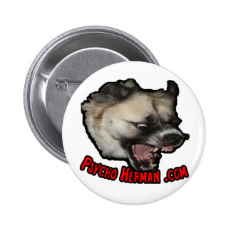 Psycho Herman .com 2 Inch Round Button