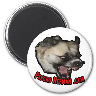 Psycho Herman .com 2 Inch Round Magnet