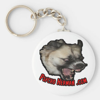 Psycho Herman .com Basic Round Button Keychain