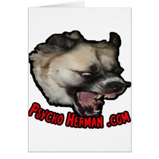 Psycho Herman .com Card