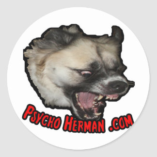 Psycho Herman .com Classic Round Sticker