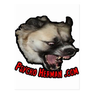 Psycho Herman .com Postcard
