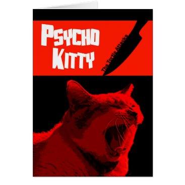 Halloween Themed Psycho Kitty Happy Halloween Card