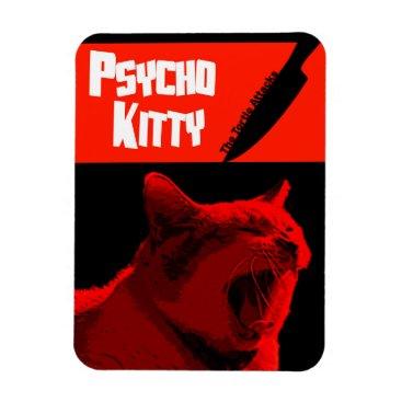 Halloween Themed Psycho Kitty Magnet