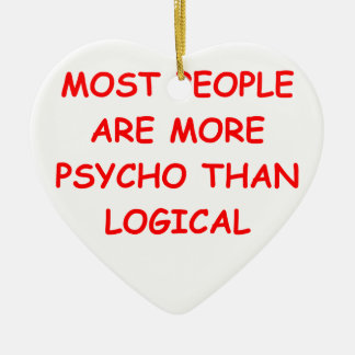 psycho logical christmas ornaments