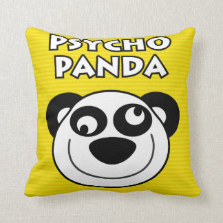 Psycho Panda Throw Pillow