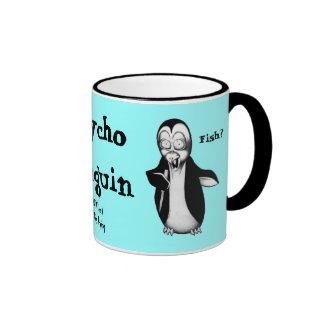 Psycho Penguin: Fish? Coffee Mugs