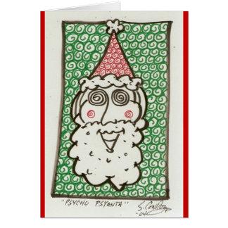 psycho psanta Christmas card