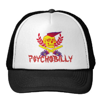 psycho, psychobilly trucker hat