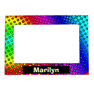 Psycho Rainbow Magnetic Picture Frame
