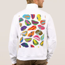 Psycho retro colorful pattern Lips Jacket
