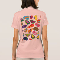 Psycho retro colorful pattern Lips Polo Shirt