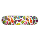 Psycho retro colorful pattern Lips Skateboard