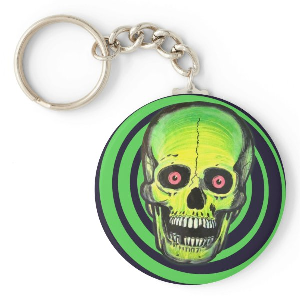 Psycho Skull Halloween Keychain