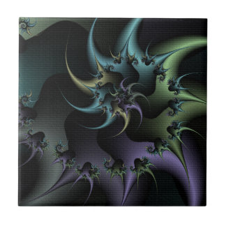 Psycho Spike Abstract Design Tile