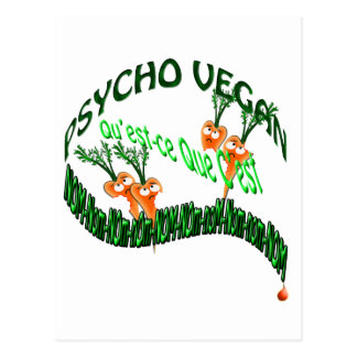 psycho vegan postcard