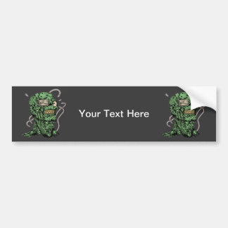 Psycho Zombie Bumper Sticker
