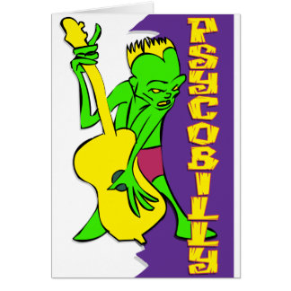 Psychobilly Greeting Card