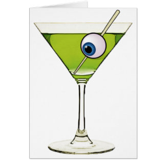 Psychobilly Martini Greeting Card
