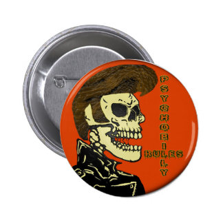 Psychobilly Rules Buttons