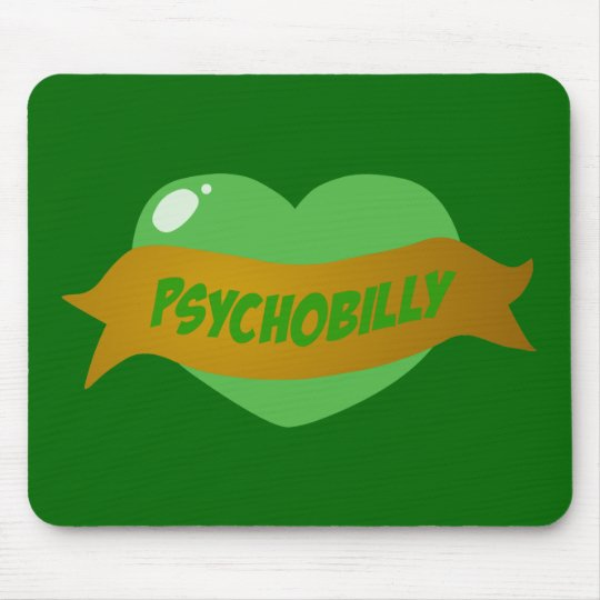 Psychobilly Tattoo Heart Mouse Pad