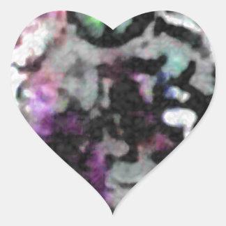 Psychodelic Adventurist Heart Sticker