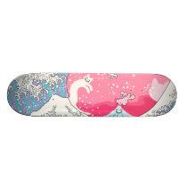 Psychodelic Bubblegum Kunagawa Surfer Cat Skateboard Deck