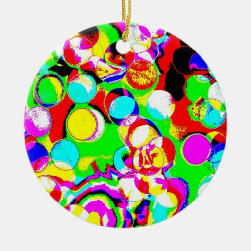 Psychodelic Christmas Party Lights Ornament