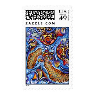 Psychodelic coy fish by Julie Ann Stricklin Stamps