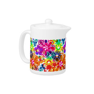 psychodelic Flowers teapot