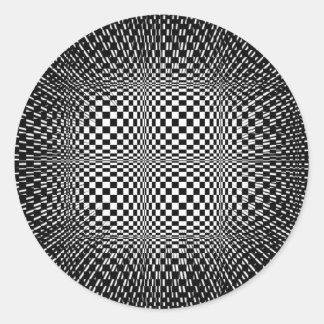 Psychodelic hypnotic efect classic round sticker
