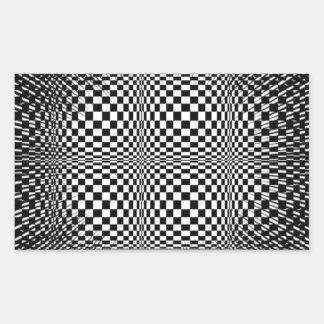 Psychodelic hypnotic efect rectangular sticker